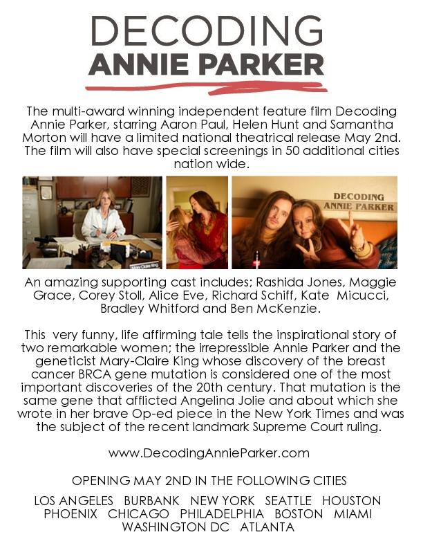 Decoding Annie Parker One Sheet